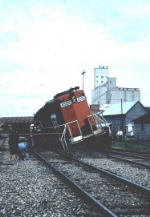 GT 4556 in wreck, one of 3 units involved