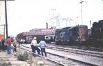 scene of train wreck