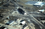 Aerial picture of Durand Depot in the spring