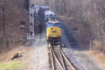 CSX 4536 leads the charge as the Q398 passes the West Plane signals