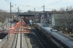SA 31 meets a SB NJT train