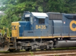 CSX GM/EMD SD40-2 8435 in CSXs YN3 Paint Sits Waiting to Move Through the Montreal Road Grade Crossing
