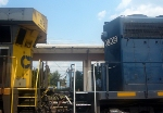 CSX GE CW60AC 5012 and HLCX (Helm Leasing Company) GM/EMD SD40 6309 Idle at CSXs Hulsey Intermodal Yard