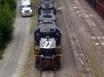 NS GM/EMD GP38-2 5016 Idles in the NS Yard