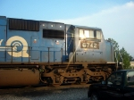 NS ex Conrail Patched GM/EMD SD60I 6742 idles at the NS Engine Facility