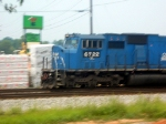 NS ex Conrail Patched GM/EMD SD60I 6722 Rolls a Southbound Manifest just Beyond the Pleasant Hill Road Grade Crossing