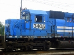 NS ex Conrail Patched GM/EMD SD40-2 3405 Idles near the Amtrak Station