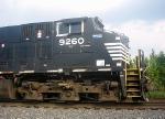 NS GE CW40-9 9260 Idles at the NS Engine Facility
