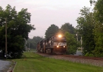 An NS Light Power Move with a GE CW40-9,a GM/EMD SD70 and a UP GM/EMD SD40-2