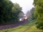 A Northbound Intermodal with 2 GE CW40-9s Rolls through