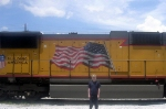 ME and UP GM/EMD SD70M 4830 Idle at CSXs Hulsey Intermodal Yard