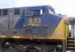 CSX GE CW44C 493 Idles at CSXs Hulsey Intermodal Yard