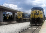 CSX GE B30-7 5569 and GE CW44C 150 Idle at CSXs Hulsey Intermodal Yard