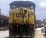 CSX GE CW44C 150 Idles at CSXs Hulsey Intermodal Yard
