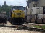 CSX GE CW40-8 7330 Idles at CSXs Hulsey Intermodal Yard