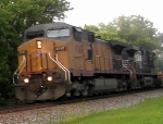 UP GE CW44AC 9747 Rolls a Northbound Intermodal Train