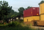 A Southbound Intermodal with 3 GM/EMD GP60s, Near the Main Street Grade Crossing
