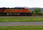 BNSF GE ES44AC 6108 leads an NS coal train