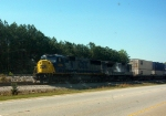 CSX GM/EMD SD60I 8725 and a RLCX GE B39-8E Idle with a Northbound Intermodal Train,Along CSXs Former Atlanta and West Point Railroad Main
