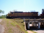 UP GE C40-8 9027 Idles on a Northbound Light Power Move Along CSXs Former Atlanta and West Point Railroad Main by the ex AWP Passenger Station