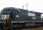 NS GE C39-8E 8664 Idles near the Amtrak Station