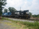 Power for NS's Duluth Local,NS GM/EMD GP38-2 5016 and an NS ex Conrail Patched GE B40-8