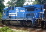 NS ex Conrail Patched GE B40-8 4801 Trails an NS GM/EMD GP38-2 on the NS Duluth Local near Main Street Grade Crossing