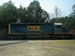 CSX GM/EMD SD40-2 8077 Idles at the CSX Palmer Yard