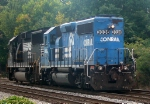 Power for NS's Duluth Local,NS ex Conrail Patched GM/EMD GP40-2 3038 and an NS GM/EMD GP60