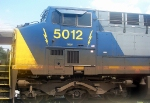 CSX GE CW60AC 5012 Idles at CSXs Hulsey Intermodal Yard