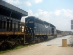HLCX (Helm Leasing Company) GM/EMD SD40 6309 Idles at CSXs Hulsey Intermodal Yard