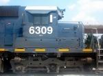 HLCX (Helm Leasing Company) GM/EMD SD40 6309 Idles at CSXs Hulsey Intermodal Yard