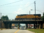 UP GM/EMD SD70M 4544 Leads a Southbound NS Manifest at the Eisenhower Parkway Bridge in the Cotton Avenue Area