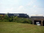NS GM/EMD SD60 6599 Trails on a Southbound NS Manifest just Beyond the Poplar Street Bridge in the Cotton Avenue Area