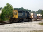 CSX GM/EMD SD40-2 8042 Idles at the East End of CSXs Hulsey Intermodal Yard