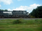 """NS GE CW40-9 9516, """"Screams"""" a Northbound Manifest through the North End of/Exit to the NS Yard"""