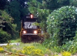 NS GM/EMD GP60 7121 Idles on the Capitol Materials INC. Spur,while Working the NS Duluth Local Near the Main Street Grade Crossing