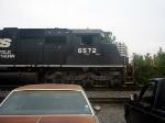 NS GM/EMD SD60 6572 idles at the NS Engine Facility