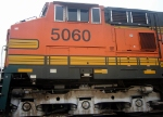 BNSF GE CW44-9 5060 Trails on a Southbound NS Manifest at the NS Engine Facility