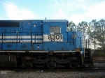 NS ex Conrail Patched GE C40-8 8301 Idles at the NS Engine Facility