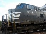 NS GE CW40-9 9112 Idles at the NS Engine Facility