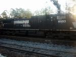 NS GE CW40-9 8993 Screams a Southbound Intermodal through the Main Street Grade Crossing