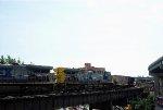 CSXT GE CW44AC's 508 and 432 roll across CSXT's ex SBD System Bridge