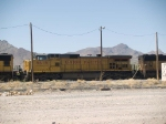 UP 9619 #2 power in a WB autorack at 2:19pm