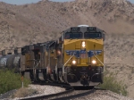 UP 7657 leads an EB manifest QWCFW West Colton - Ft Worth at 12:11pm