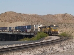 UP 3836 leads an EB doublestack KCIAT (City of Industry, CA - Atlanta) at 9:55am