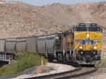 UP 7605 leads an EB grain train at 11:32am