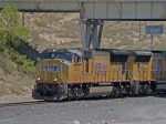 UP 5207 leads a WB manifest MFWWC - Ft Worth - West Colton - at 1:41pm
