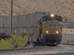 UP 8345 leads a WB doublestack IMQLA-20 Mesquite - LA at 12:53pm