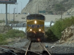 UP 7829 leads an EB manifest at 3:57pm